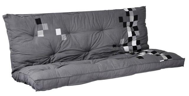 Matelas futon pixel gris dos eveloppant 135 x 190 matelas - Housse pour matelas futon ...