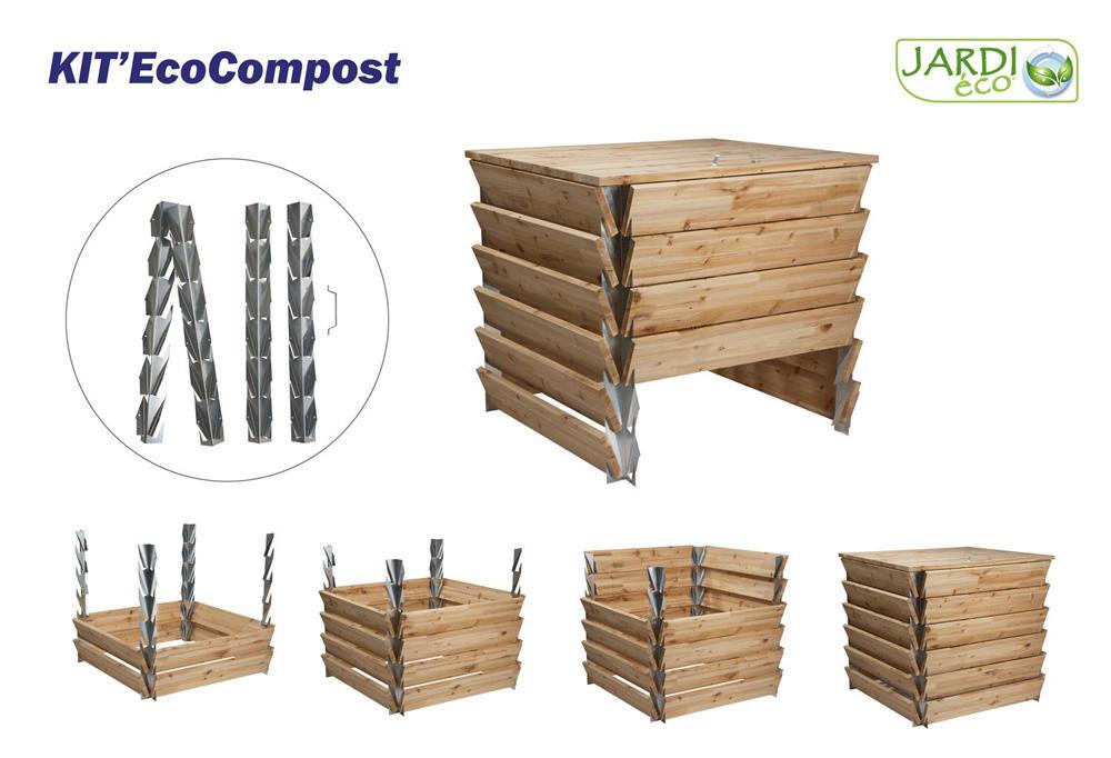 kit eco compost structure pour bac compost bac compost fer. Black Bedroom Furniture Sets. Home Design Ideas
