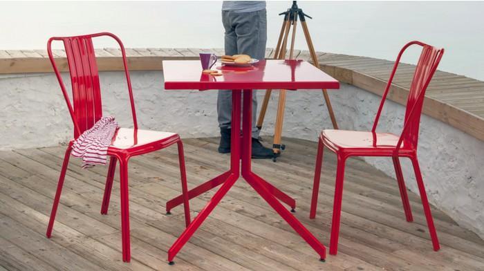 Ensemble urban 1 table 2 chaises en aluminium roug - Salle à manger ...