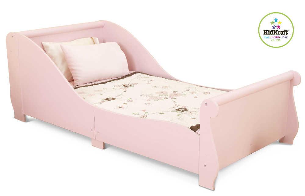Lit En Bois Rose Pour Enfant 157x73x55cm Chambre Enfant 4