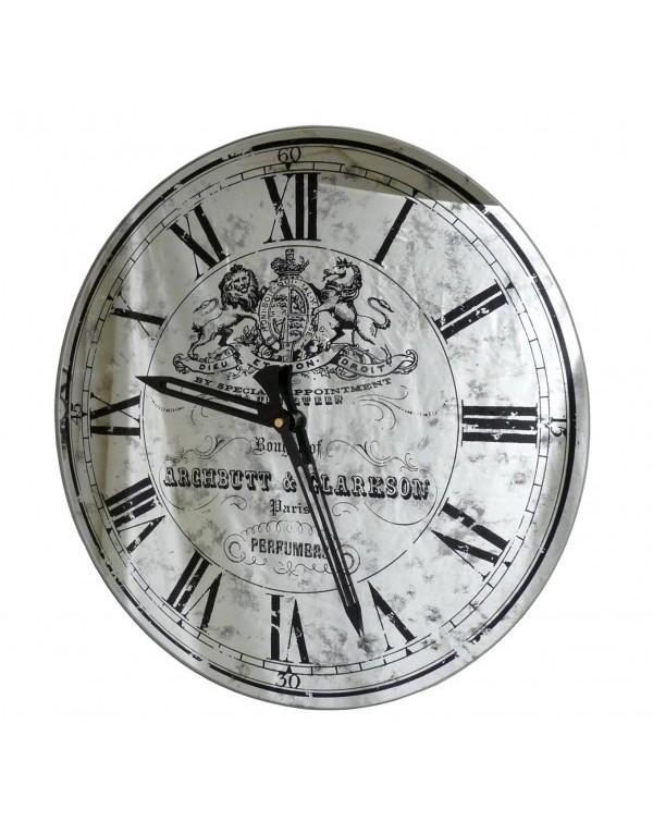 horloge miroir murale en verre 39cm horloge murale. Black Bedroom Furniture Sets. Home Design Ideas