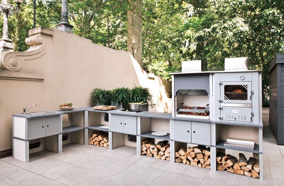 saint vincent cuisine d 39 ext rieur gris palazzetti. Black Bedroom Furniture Sets. Home Design Ideas