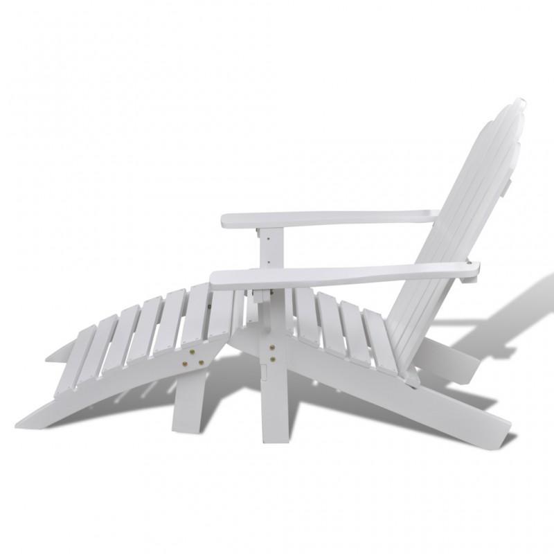 Chaise à bascule jardin avec repose pieds - Fauteuil de ...