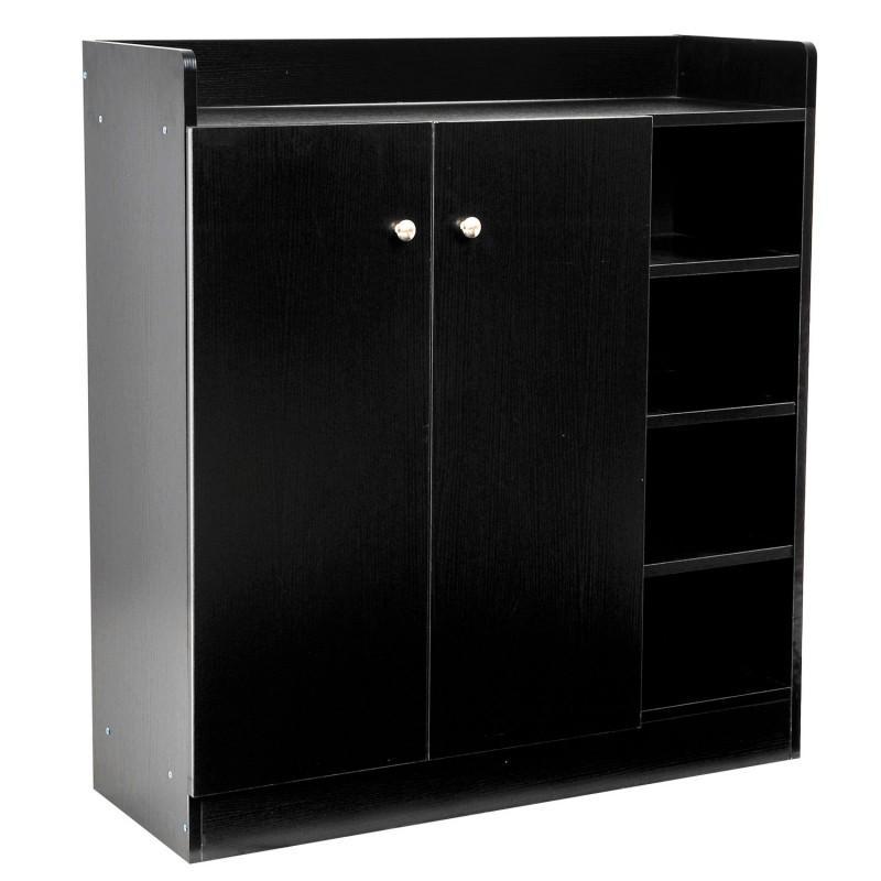 meuble armoire chaussure bois tiroirs noir meuble chaussures. Black Bedroom Furniture Sets. Home Design Ideas