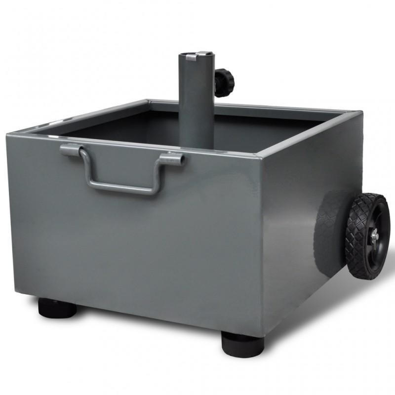 pied de parasol pot de fleurs gris pied de parasol white label. Black Bedroom Furniture Sets. Home Design Ideas