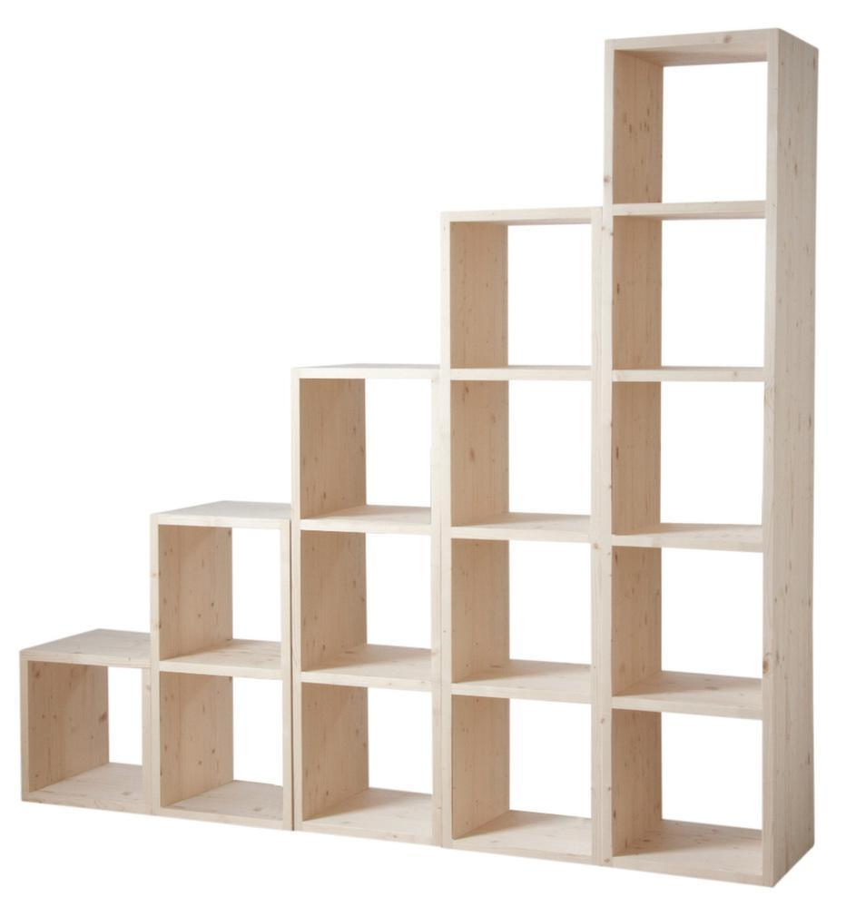 Etagère modulable 5 cases en épicéa 5 cases - Etagère - Aubry- ...