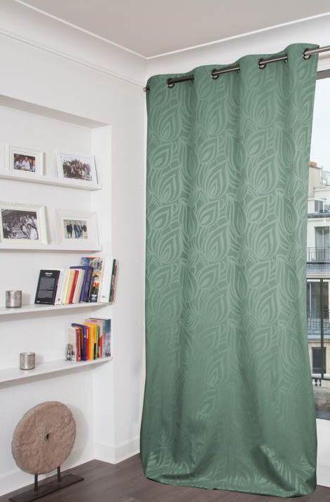 balkans lagon rideau occultant vert moondream decofinder. Black Bedroom Furniture Sets. Home Design Ideas