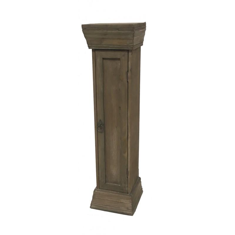 colonne sellette etag re haute colonne en bois 80 sellette bois. Black Bedroom Furniture Sets. Home Design Ideas