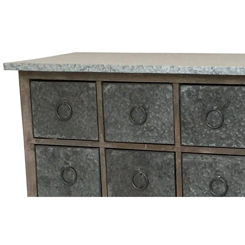 console meuble table bahut casier bois zinc console bois. Black Bedroom Furniture Sets. Home Design Ideas