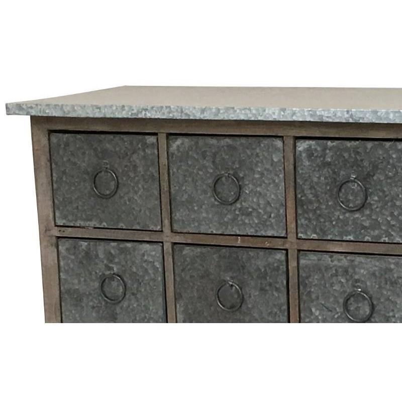 console meuble table bahut casier bois zinc console. Black Bedroom Furniture Sets. Home Design Ideas