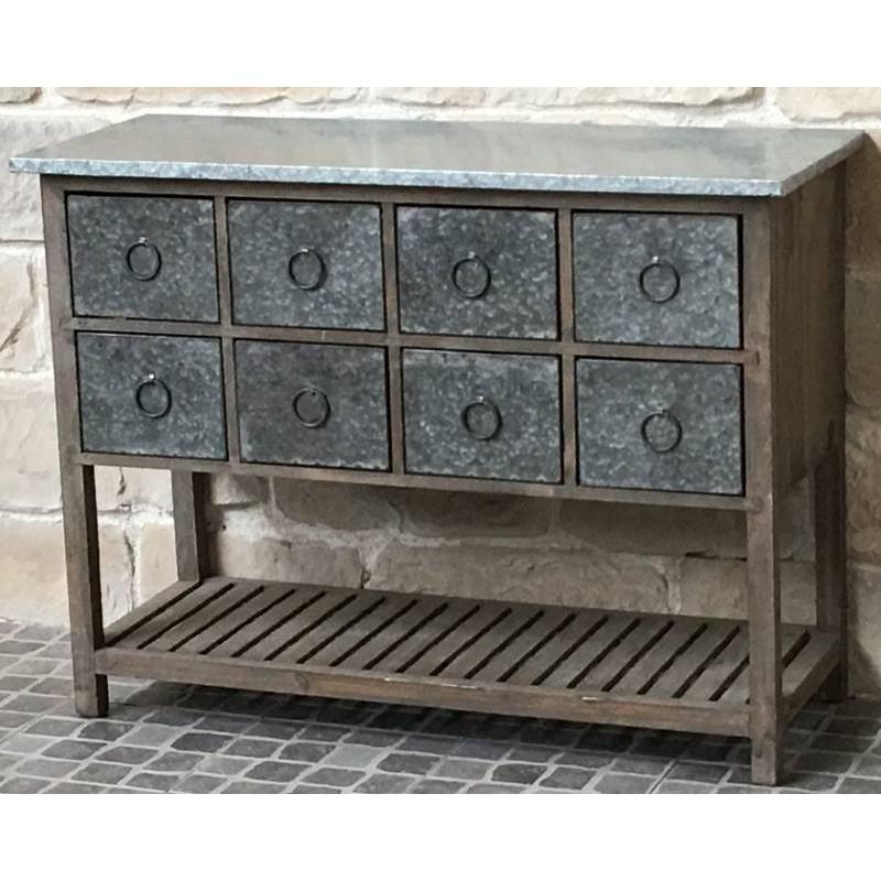 console meuble table bahut casier bois zinc console. Black Bedroom Furniture Sets. Home Design Ideas