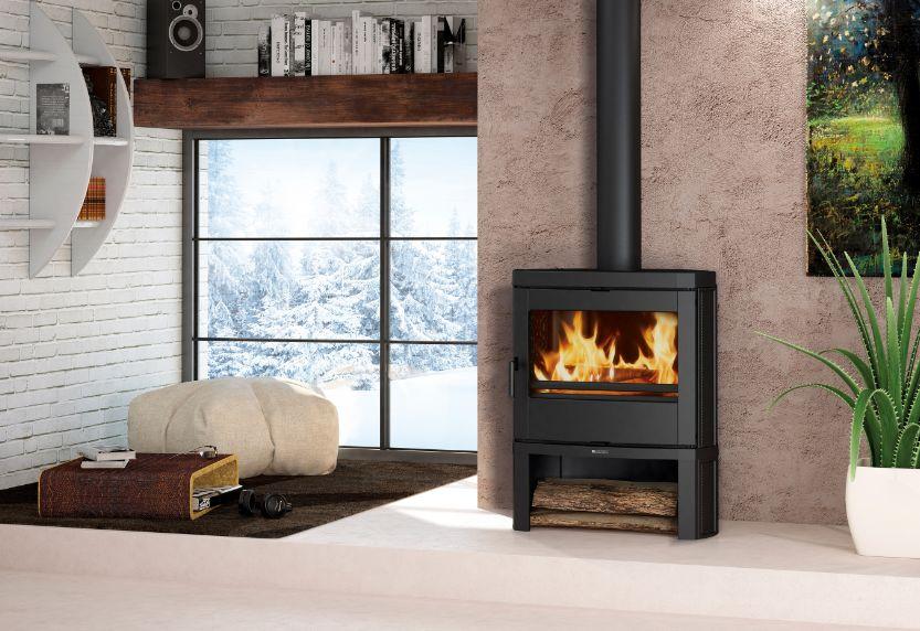 jennifer po le bois noir la nordica extraflame. Black Bedroom Furniture Sets. Home Design Ideas