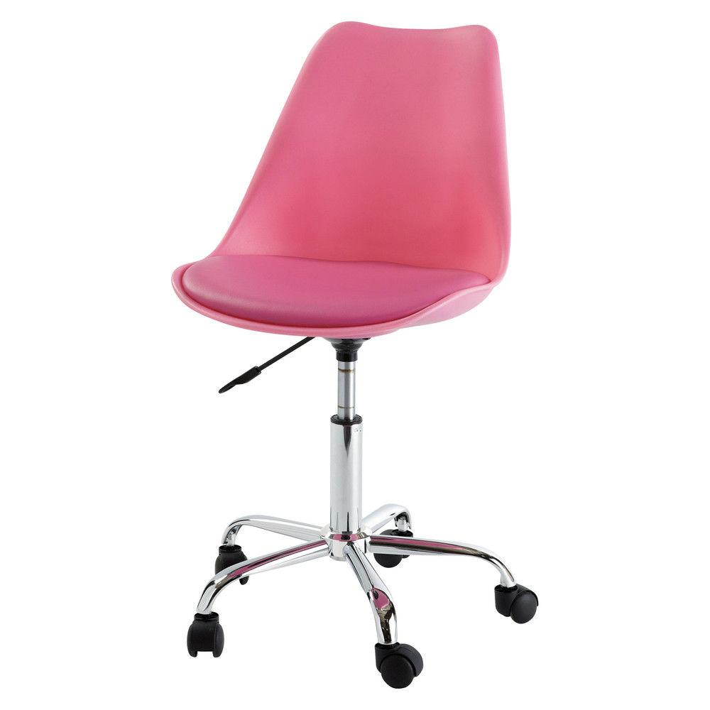 Chaise de bureau à roulettes rose BristolChaise de bureau ...