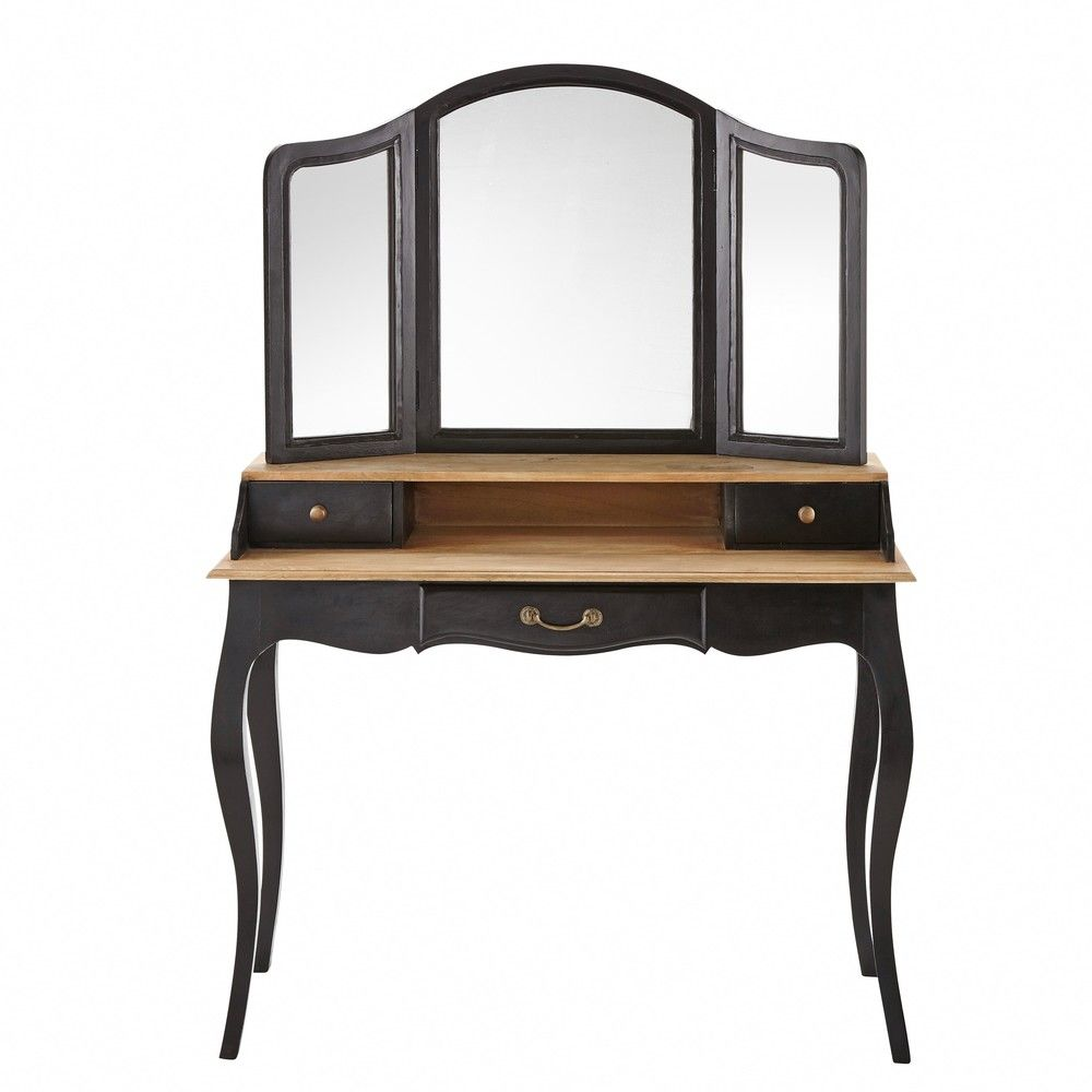 coiffeuse en acacia et manguier noire versaillescoiffeuse. Black Bedroom Furniture Sets. Home Design Ideas