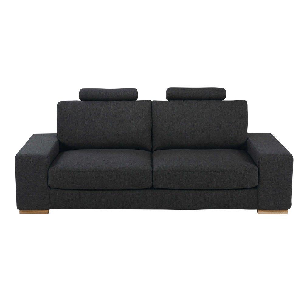 canap lit avec t ti res 3 places gris anthracite. Black Bedroom Furniture Sets. Home Design Ideas