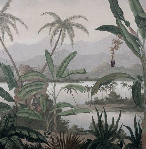 Ananbô - Papier peint panoramique-Ananbô-Mandalay grisaille