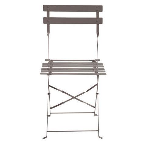 MAISONS DU MONDE - Chaise de jardin-MAISONS DU MONDE-Lot de 2 chaises taupe Confetti