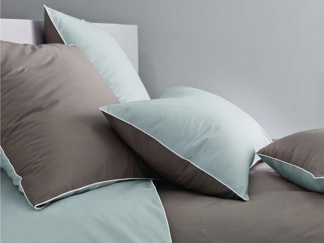 BLANC CERISE - Parure de lit-BLANC CERISE-Housse de couette - percale (80 fils/cm²) - gris p