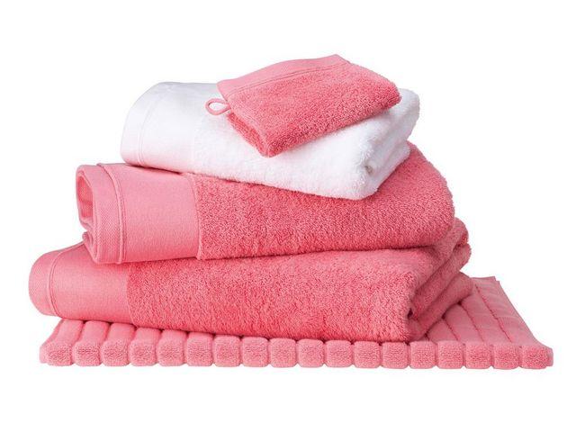 BLANC CERISE - Serviette de toilette-BLANC CERISE-Drap de douche Corail - coton peigné 600 g/m² - un