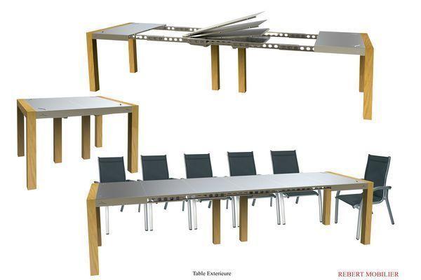 Rebert  mobilier - Table à rallonge-Rebert  mobilier