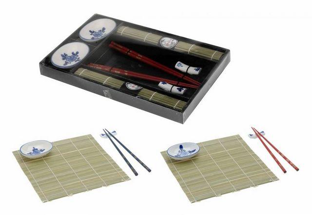 WHITE LABEL - Baguette chinoise-WHITE LABEL-Ensemble duo asiatique spécial sushi