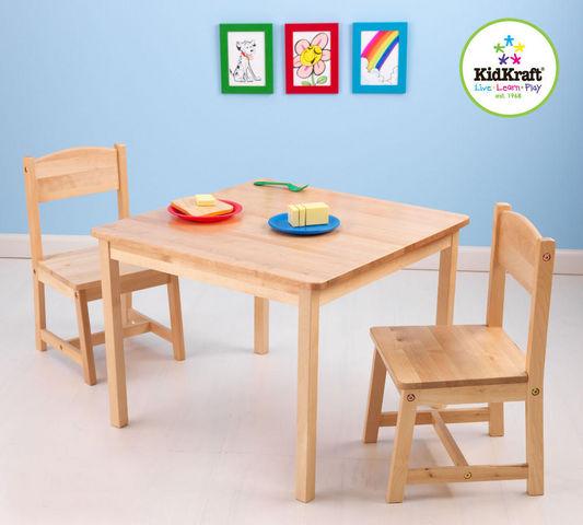 KidKraft - Table de jeux pour enfant-KidKraft-Salon table et chaises pour enfant en bois clair