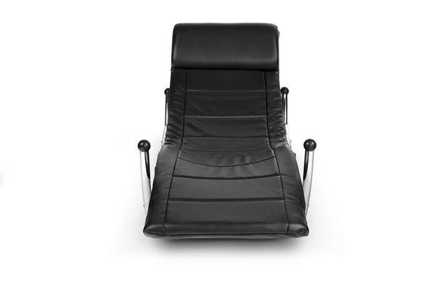 KOKOON DESIGN - Fauteuil de relaxation-KOKOON DESIGN-Fauteuil rocking-chair design en similicuir noir 1