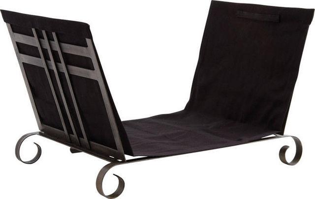 Aubry-Gaspard - Porte-buches-Aubry-Gaspard-Porte-bûches en métal et jute noir 24x13x14cm