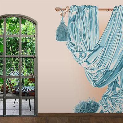 ATELIER MARETTE - Papier peint panoramique-ATELIER MARETTE-Draperie LES WADDEN, WADDEN SEE, AMRUM
