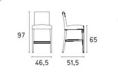 Calligaris - Chaise haute de bar-Calligaris-Chaise de bar LATINA de CALLIGARIS aubergine et hê