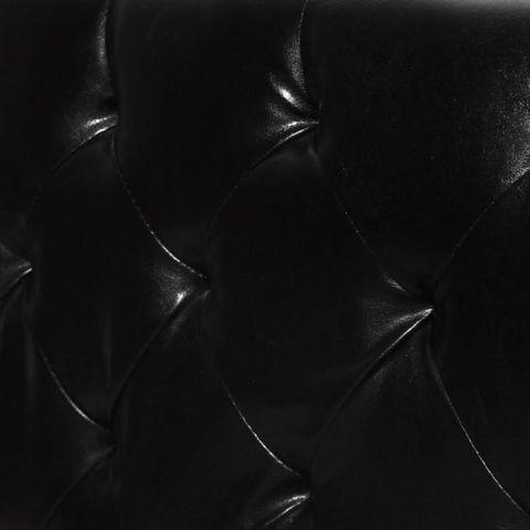 WHITE LABEL - Lit double-WHITE LABEL-Lit cuir 180 x 200 cm noir