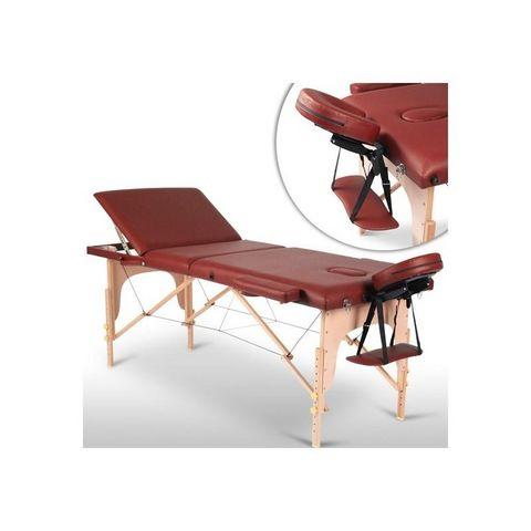 WHITE LABEL - Table de massage-WHITE LABEL-Table de massage pliante 3 zones rouge