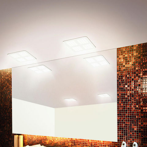 Osram - Plafonnier-Osram-QOD - Plafonnier Blanc LED 15,5x15,5cm   Lustre et