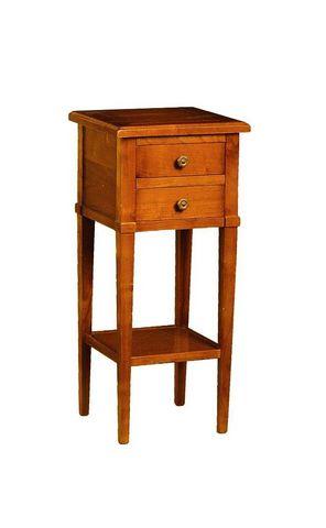 WHITE LABEL - Table de chevet-WHITE LABEL-Chevet MONTMARTRE 2 tiroirs en merisier