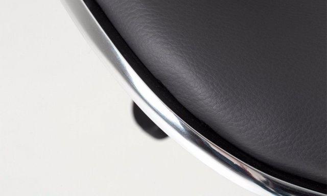 WHITE LABEL - Chaise haute de bar-WHITE LABEL-Tabouret de bar NANTES simili cuir gris