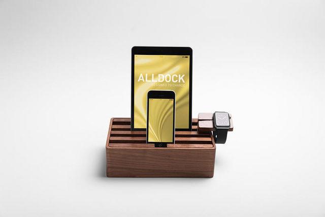 ALL DOCK - Support de tablette-ALL DOCK-ALLDOCK noyer moyen