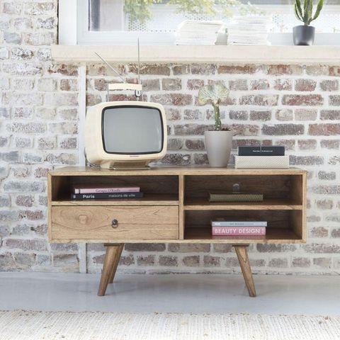 BOIS DESSUS BOIS DESSOUS - Meuble tv hi fi-BOIS DESSUS BOIS DESSOUS-Meuble TV en bois de mindy 110 OSLO