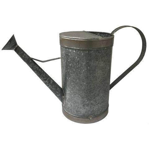 CHEMIN DE CAMPAGNE - Arrosoir-CHEMIN DE CAMPAGNE-Style Ancien Arrosoir de Jardin en Fer Galva 3 Lit