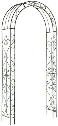 GARDMAN - Arche-GARDMAN-Arche en fer gris blanchi Rosalie