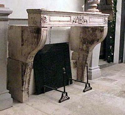 Piet Jonker - Manteau de cheminée-Piet Jonker-Antique en pierre
