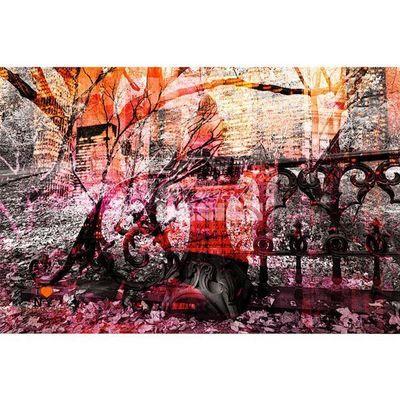 Magel'design - Tableau contemporain-Magel'design-Central Romantic Park 120x80 cm , 3D, Effet relief