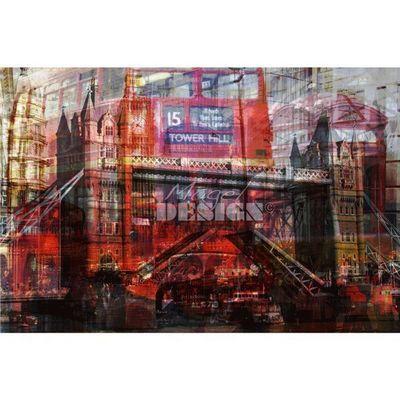 Magel'design - Tableau contemporain-Magel'design-London Colors 120x80 cm , 3D effet relief