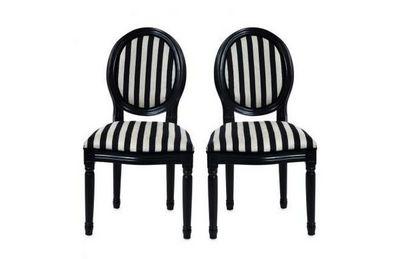 Miliboo - Chaise médaillon-Miliboo-Lot de 2 chaises baroques MEDAILLON