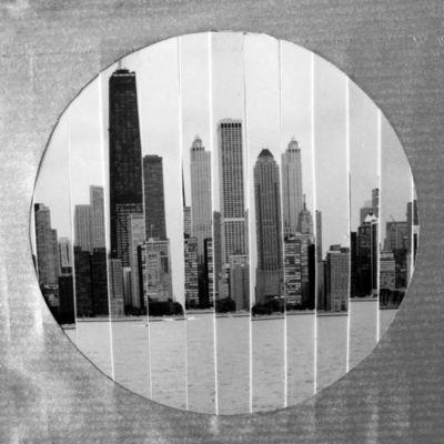 JOHANNA L COLLAGES - Tableau contemporain-JOHANNA L COLLAGES-Windy City : Vue du Lac Michigan