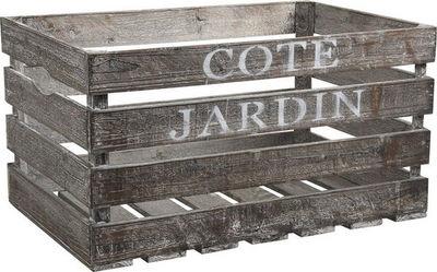 Aubry-Gaspard - Caisse à bouteilles-Aubry-Gaspard-Caisse en bois côté jardin 55x36x30cm