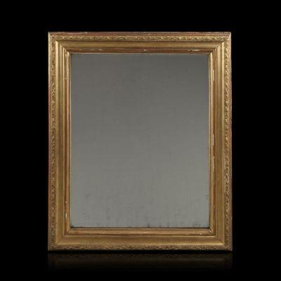 Expertissim - Miroir-Expertissim-Miroir en bois stuqué et doré. Fin XIXe siècle
