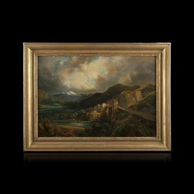 Expertissim - Paysage-Expertissim-ECOLE FRANCAISE du XIXe siècle. Vue du Montblanc d