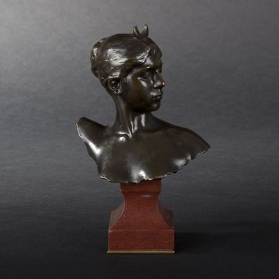 Expertissim - Buste-Expertissim-A. FALGUIERE. Buste de Diane en bronze