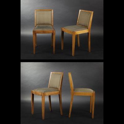 Expertissim - Chaise-Expertissim-Suite de quatre chaises en ch�ne massif