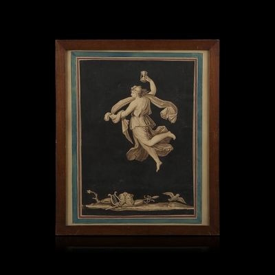 Expertissim - Dessin au crayon-Expertissim-Ecole néoclassique italienne, XIXe siècle. Allégor